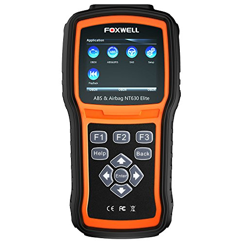 FOXWELL NT630 Elite OBD2 Scanner ABS SRS Code Reader Automotive OBD II ABS Airbag Diagnostic and Active Test Scan Tool (Best Code Reader 2019)