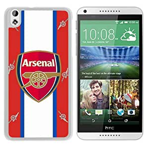 Fashionable Custom Designed Skin Case For HTC Desire 816 With Arsenal White Phone Case 5