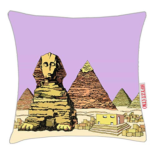 HFYZT Sphinx and a Pyramid Pillow Cover Standard Throw Pillowcase 18X18 Inch (Pyramid Pillow)
