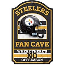 "WinCraft NFL Fan Cave Wood Sign, 11"" x 17"""