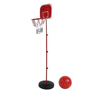 VGEBY1 Set di Pallacanestro, tabellone per canestro da Basket per Bambini con Base, Asta di Ferro, Pallacanestro, Cerchio e Rete, Pompa per Interni
