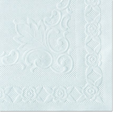 Hoffmaster 601SE1014 14'' Length x 10'' Width, White Classic Embossed Straight Edge Placemat (Case of 1,000) by Hoffmaster