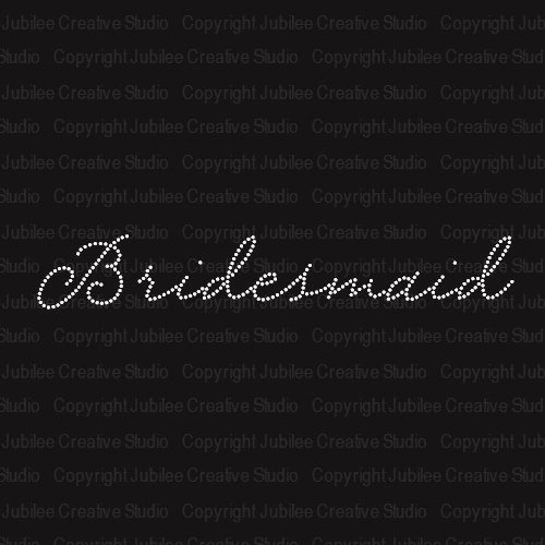 Bridesmaid Iron On Rhinestone Crystal T-shirt Transfer by Jubilee Rhinestones
