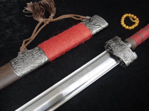 Chinese sword/Movie hero nameless sword/Pattern steel blade/Rosewood scabbard/Chinese kung fu