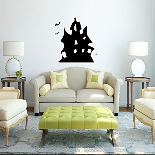 Haunted House - Vinyl Wall Decals, Halloween Party, Haunted House Decorations, Halloween Decorations, Haunted Mansion, Halloween Home Decor, Spooky House, -