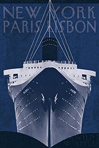 Amazon passage atlantique blueprint new york paris lisbon passage atlantique blueprint new york paris lisbon travel ship 36x24 art print poster architectural malvernweather Gallery