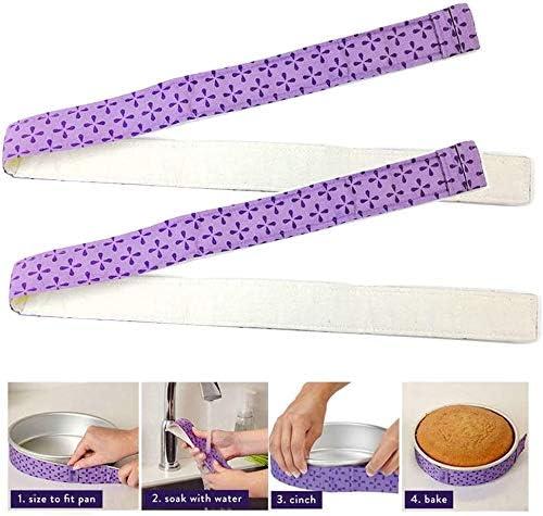 2 PCS Kuchen Streifen zum Backen LUUFAN Backen Auch Kuchen Streifen Kuchenform Streifen Super Saugstarke Baumwolle