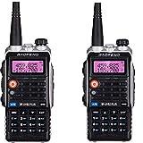 QUARKJK LED Light 4800mah Battery Bf-Uvb2 Baofeng Uvb2 Plus for WalkieTalkie Cb Radio Mobile Comunicador High Power Baofeng 8w b2,2pcs