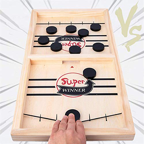 Fast Sling Puck Game, Table Desktop Battle Ice Hockey Game/Winner Board Games, Desktop Sport Board Game for Family Game Night Fun, Tabletop Slingshot Games Toys for Adults and Kids (22.7 in x 12.5 in)