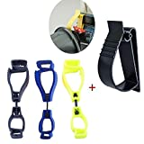 3 Pcs Glove Grabber Clip Holder Guard Work Safety Clip Glove Keeper Hand protector + Utility Belt Clip Catcher Clip Attachment Fixed Items For Hard Hats, Ear Muff Clip, Ear Protection Clip