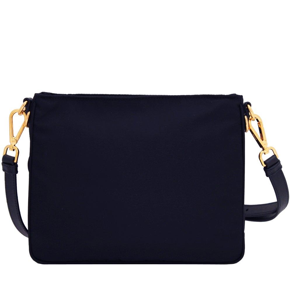 a9d5008e497dde Prada Women's Tessuto Saffian Navy Blue Crossbody 1BH693: Handbags: Amazon .com