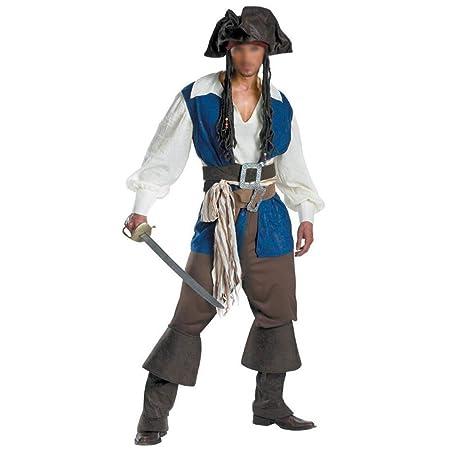 NIANzai Disfraz de Halloween for Hombre Disfraz de Pirata caribeño ...