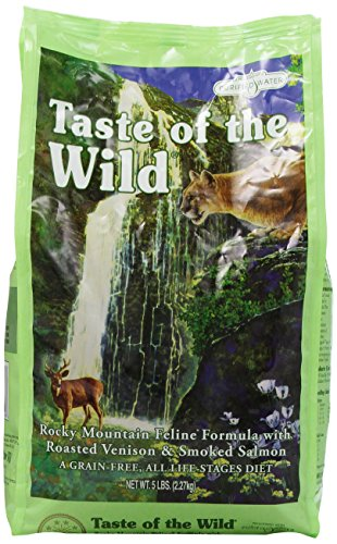 Taste of the Wild Dry Cat Food Rocky Mountain Feline Formula with Roasted Venison and Smoked Salmon 5 Pound Bag