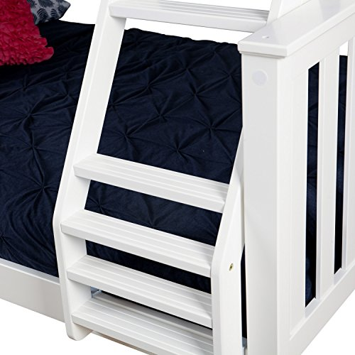 Max Amp Lily Solid Wood Twin Over Full Bunk Bed With Under