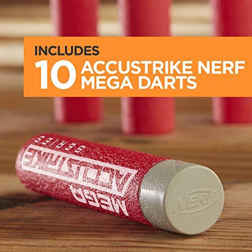 51dRo9w8qEL - Nerf Thunderhawk AccuStrike Mega Toy Blaster - Longest Blaster - 10 Official AccuStrike Mega Darts, 10-Dart Clip, Bipod - for Kids, Teens, and Adults