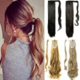 FUT Wrap Around Ponytail Clip in One Piece Pony Tial Hair Extensions 18-24inch 90g for Girl Lady Women