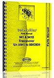 Caterpillar Traxcavator 941B (80H 3884 - 80H 5702) Parts Manual