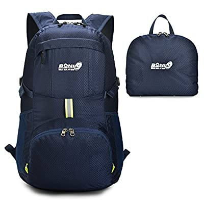 Foldable Backpack Packable Travel Backpack - 35L Durable Ultra Lightweight Water Resistant Packable Daypack Handy for Hiking,Camping,Traveling,backpacking Outdoor Sports