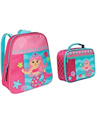 Stephen Joseph Girls Mermaid Backpack and Lunch Box with Activity Pad