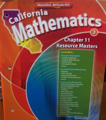- Chapter 11 Resource Masters Grade 3 (California Mathematics)