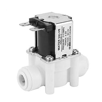Keenso 1pc 12V válvula solenoide eléctrica CC normalmente cerrada adecuado para tubos de 3/8