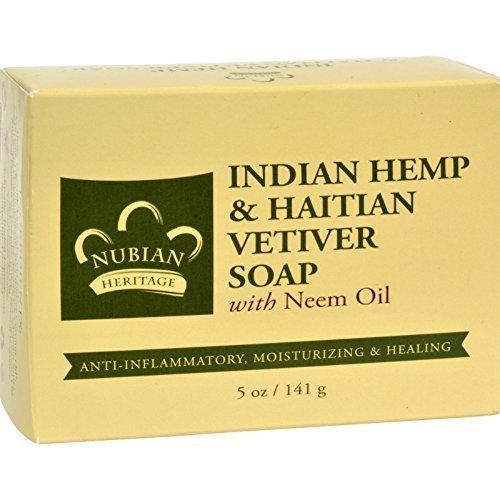 Nubian Heritage Soap Bar Indn Hmp Vetiver