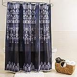 Pink Ombre Ruffle Shower Curtain Splash Home 7AOSIRI/FRINDSPL Osiris Polyester Fabric Shower Curtain, 70