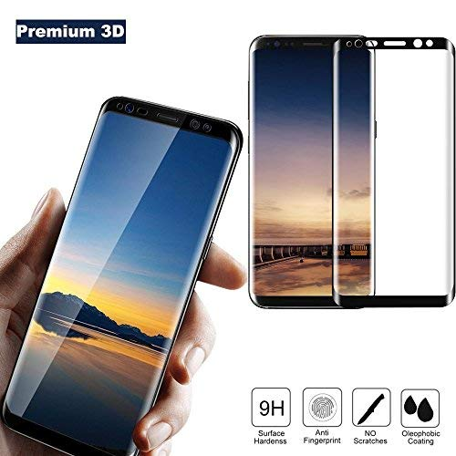 Galaxy S8 Plus Screen Protector, Cavalrywolf Full Coverage 3D Tempered Glass, [Easy Installation] [Bubble Free] [High Definition] [Anti-Scratch] Screen Protector for Samsung Galaxy S8 Plus
