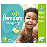 #10: Pampers Baby Dry Diapers, Size 3, 160 Count