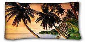 Generic Personalized Nature Custom Cotton & Polyester Soft Rectangle Pillow Case Cover 20x36 inches (One Side) suitable for King-bed