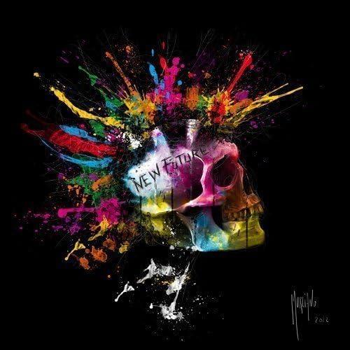 Acheter tableau peinture tete de mort online 1