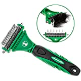 K9konnection The SHEDDER Dematting Comb for Dogs & Cats with Double Sided Stainless Steel Pet Safe Blades | Tool Removes Undercoat Knots, Mats & Tangled Hair | Effective and Durable Grooming Brush