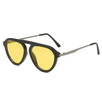 9f8b7a7da643 Amazon.com: CapsA Small Round Retro Sunglasses for Women Vintage Plastic  Frame Integrated Stripe Classic Glasses Eyewear Fashion Radiation Protection:  ...