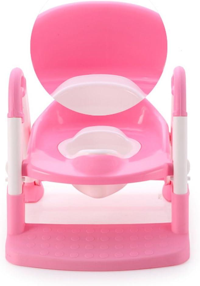 Asiento para inodoro con escalera de entrenamiento para beb/és y ni/ños rosa Babyyyuga 3 calaveras