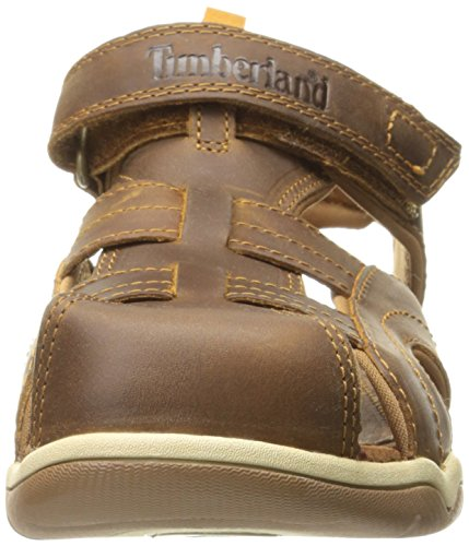 Timberland Boys Oak Bluffs Leather Fisherman Sandal, Rust Nubuck, 7 M US Toddler