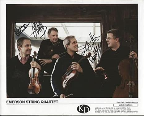 Emerson String Quartet Group Signed 8x10 Photo at Amazon's Sports