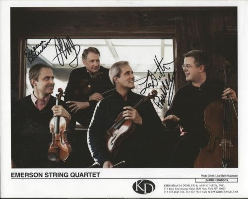 Emerson String Quartet Group Signed 8x10 Photo