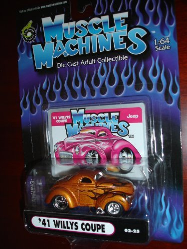 Muscle Machines 41 Willys Coupe Copper w/Black -