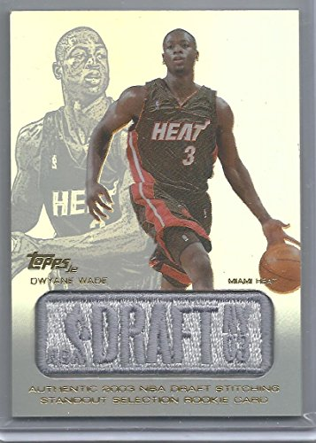 - 2003-04 Topps Jersey Edition Basketball Dwyane Wade Draft Day Patch Card # DW