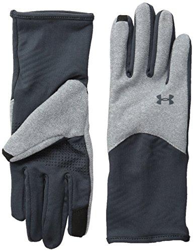 Under Armour Women's ColdGear Infrared Fleece Gloves, Steel/Stealth Gray, Medium (Under Armour Touch Screen Gloves)