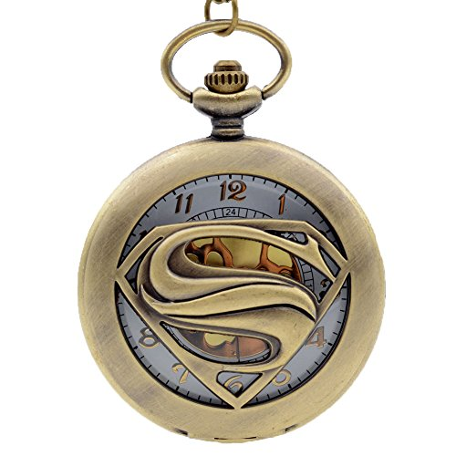 Fashion Cool Hollow S Golden Dial Quartz Pocket Watch Necklace Chain Womens Mens Gifts - Novelty Pocket Watch