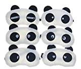 6 PCS Lovely Lightweight Super Soft Sleep Masks Comfortable Panda Eye Mask Eyeshade Eyepatch Travel Sleeping Blindfold For Office Workers Children Nap Cover