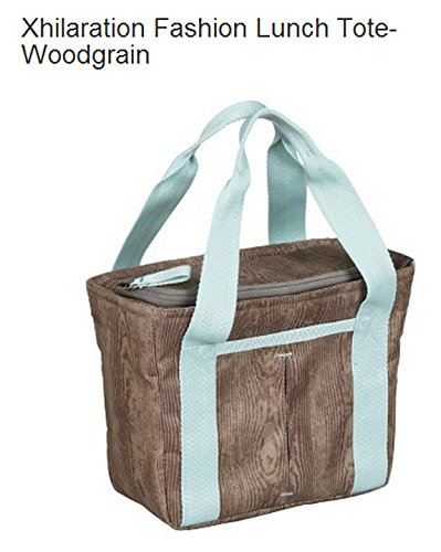 Green Xhilaration - Xhilaration Fashion Lunch Tote-woodgrain