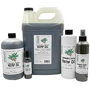 Hemp Oil-Cannabis Oil, Organic 100% Pure Hemp Oil, Pure Therapeutic Grade (8 Ounce)