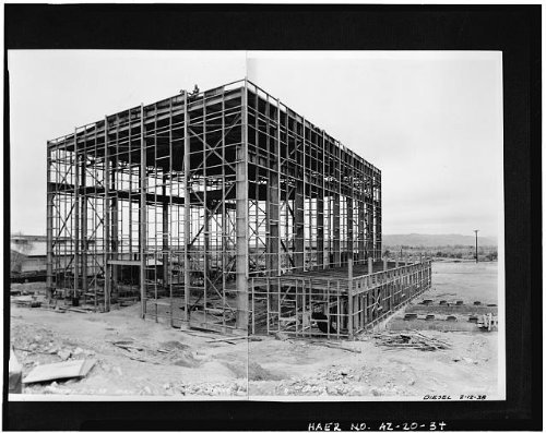 Photo: Crosscut Steam Plant,Tempe,Maricopa County,Arizona,AZ,HABS,Mill - Az Arizona Tempe Mills