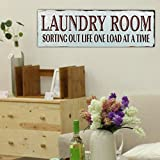 WINOMO Laundry Room Wooden Sign Novel Decorative