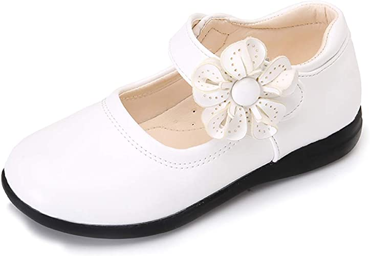 Toddler//Little Kid UBELLA Girls Flower Mary Jane Shoes Ballet Flats Wedding Dress Shoes