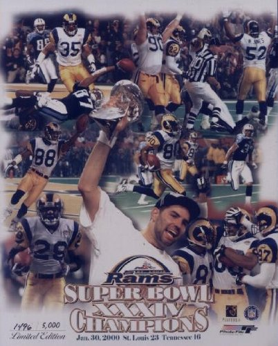 "St. Louis Rams Super Bowl XXXIV Limited Edition 8"" x 10"" Double Matted Photo"