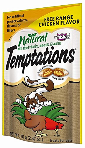 Temptations Natural Treats For Cats Free Range Chicken Flavor 2.47 Ounce (Pack Of 24), With Our Mouthwatering Menu We Have A Flavor For Every Feline (Discontinued By Manufacturer)