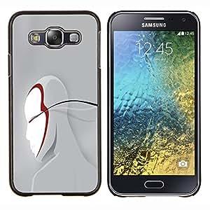 TECHCASE---Cubierta de la caja de protección para la piel dura ** Samsung Galaxy E5 E500 ** --Cara Arte